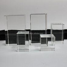 Factory Price Top Quality Optical K9 Crystal Blanks Cube Wholesale for 3D Laser Engraving/Glass Blanks Etching