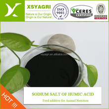 Manufacture organic fertilizer sodium humate powder high sale humic acid natural chicken feed