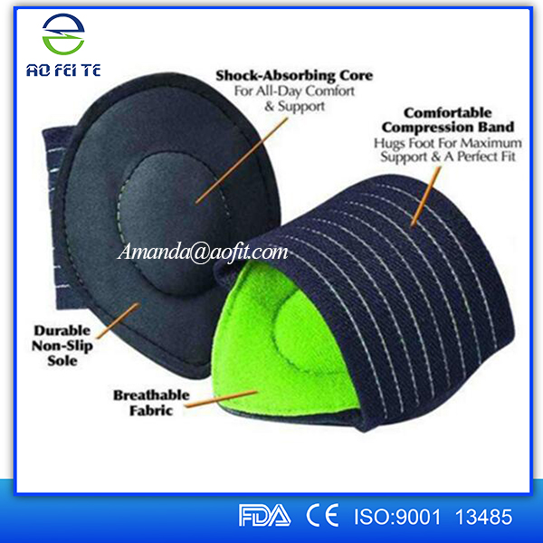 orthopedic foot cushions,cushioned plantar fasciitis foot arch supports,adjustable arch support