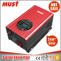 MUST Pure sine wave 3000W 12V 220V dc to ac hybrid off grid solar inverter