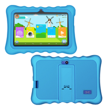 YUNTAB Blue Q88H8 inch children's tablet Android 1 + 8 GB WiFi Bluetooth for beginners with silicone case