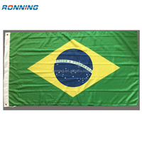 Large Screen printed all coutry Brazil Venezuela Panama National flag