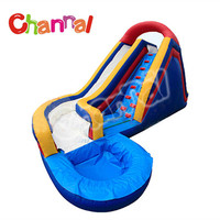 Inflatable water slides swimming pool used water park slide