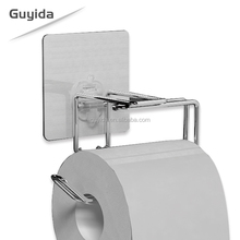 Hanging wall mounted stainless steel free standing toilet paper holder