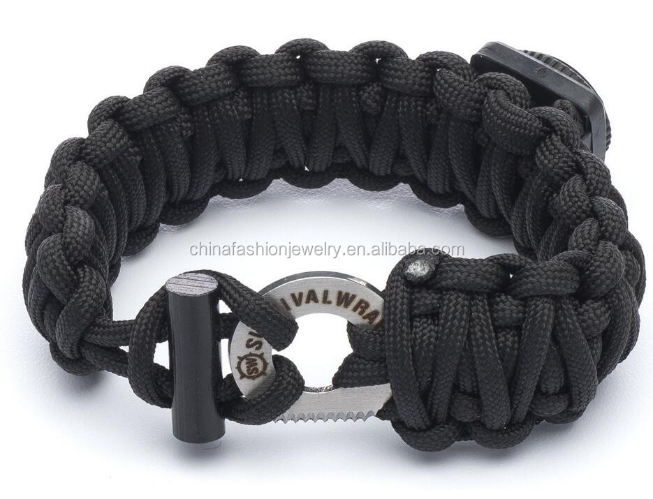 2016 Adjustable Premium 550-lb Paracord Survival Bracelet with Fire Starter And Sharpe Eye Knife
