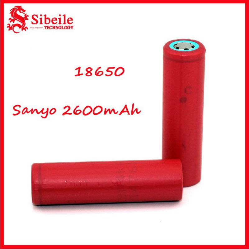 Sanyo 18650 2600mAh rechargeable battery for toys c-cig/remote control/Grid fan