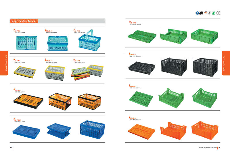 collapsible plastic crate catalog