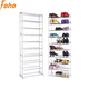 30 Pairs 10 Shelves Free Standing Amazing Shoe Rack in Plastic