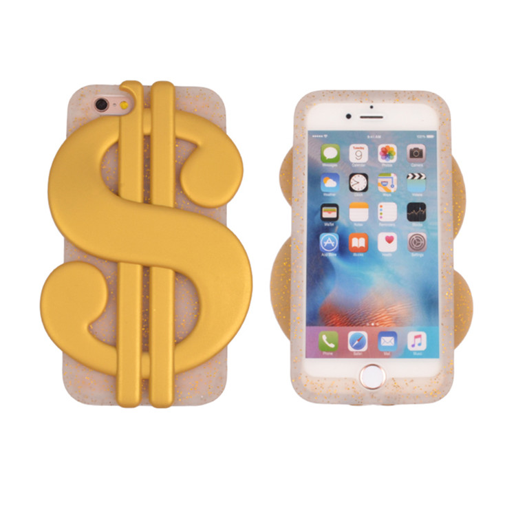 USA Dollar 3D Silicone Phone Case for iPhone 6 7 8 Plus for iPhone 8 Soft Gel Rubber Cases
