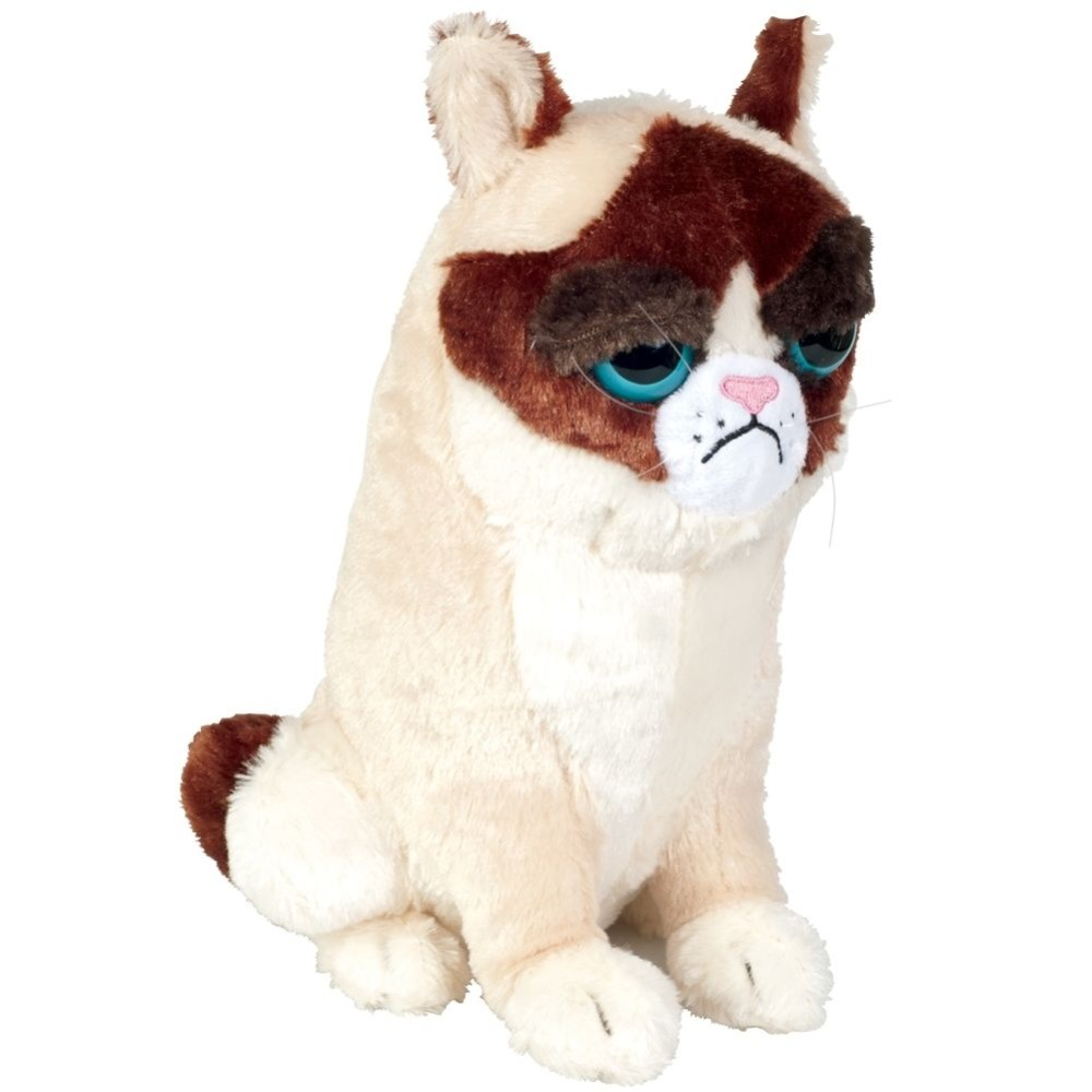 Grumpy Cat Plush Toy - Brown