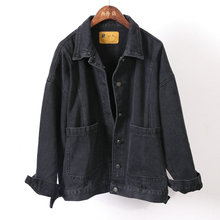1983 China factory wholesale 100% cotton women jeans jackets black denim jacket
