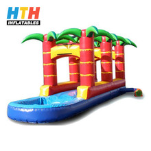 Summer commercial jungle inflatable surf and slide tropical water slide