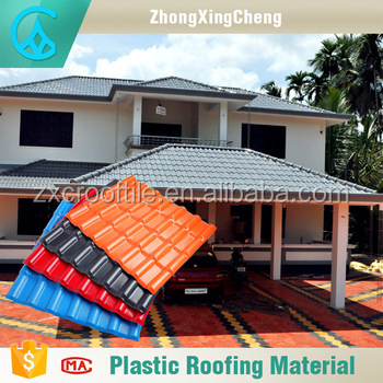 new product easy installation greenhouse reinforced plastic /plastic tiles roof