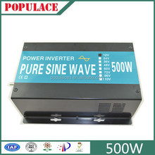 pure sine wave inverter 500w with charger dc 12 or 24 or 48v to ac 110 V or 120V or 230V