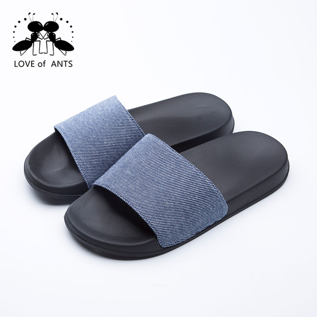 18X01 Solid color fabric Foot relaxing korea slipper