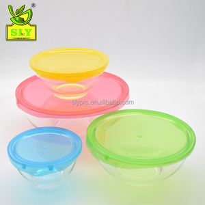 5-Piece Full Glass Set for Mixing Fruit Vegetable Salad Bowls