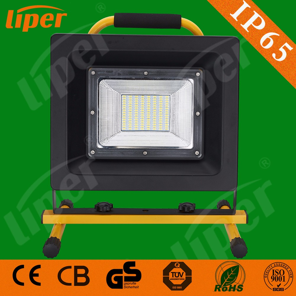Liper Outdoor lighting portable rechargeable led work light IP65 waterproof SMD 50W flood light with CE CB RoHs