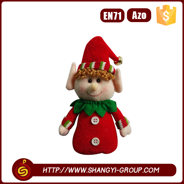 Wholesale personalized Stuffed funny dolls red clothing leprechaun toy