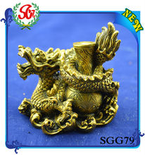 SGG79 Chinese Antique Golden Dragon Decorative Products