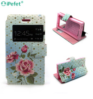 Window Flower design Tpu + Pu Leather Flip Case For iPhone 6