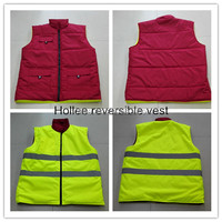 hi vis safety reversible body warmer vest reflective waistcoat winter work vest