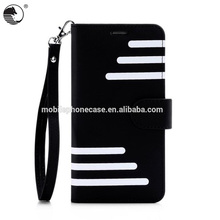 Custom Protective Wallet Case PU+TPU Shockproof Mobile Phone Case For Samsung Note 5 Stripe