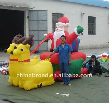 Gaint inflatable christmas decoration inflatable Santa Claus