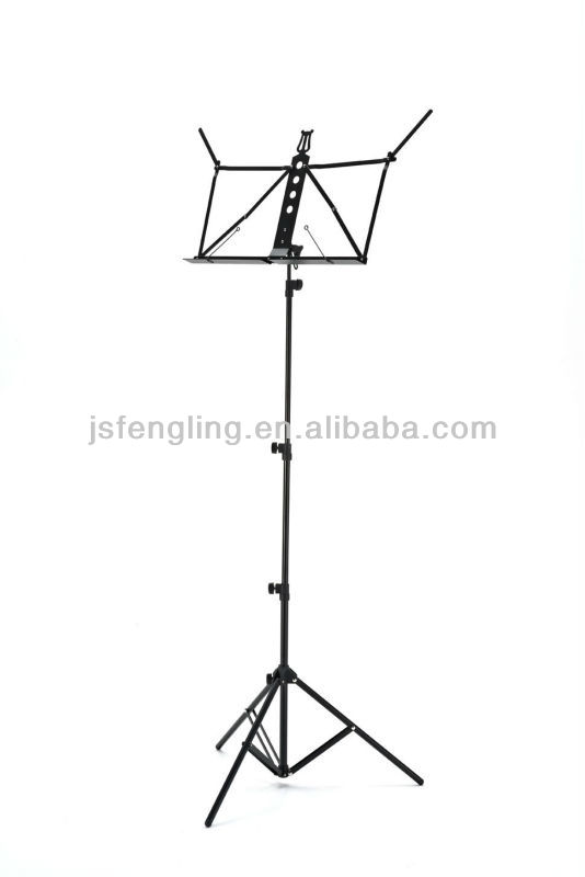 double-using aluminum music stand