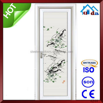 cheap aluminum bathroom glass door swing interior gate magnetic main door