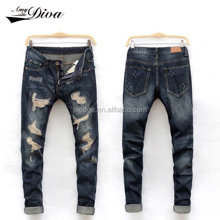 New fashion jeans pants 2016 custom jeans wholesale china black washed skinny jeans men pent price