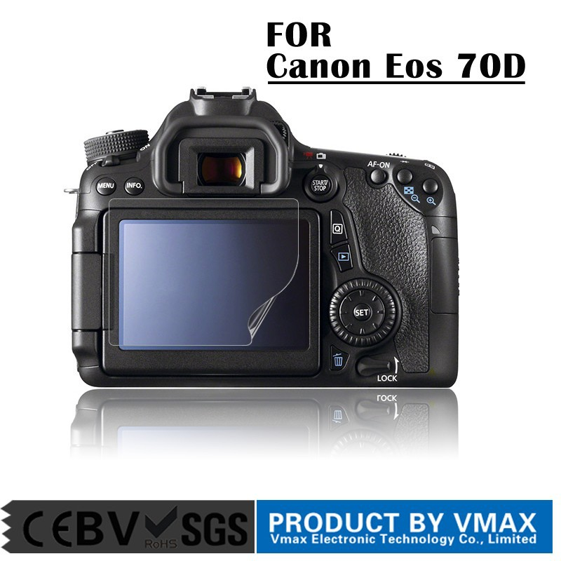 High Quality PET Material 3.0 Inch Professional Camera LCD Screen Protector for Canon Eos 70D