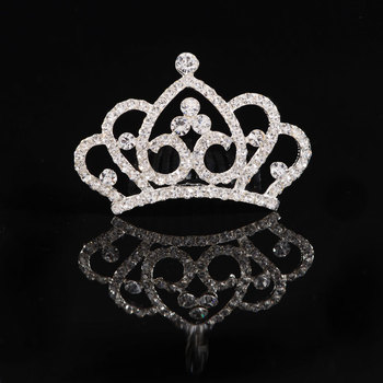 Mini Crystal Twinkle Rhinestone Bridal Crown Tuck Comb Tiara