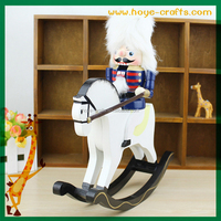 Wood Soldier On Rocking Horse Nutcracker Christmas nucracker Wholesale