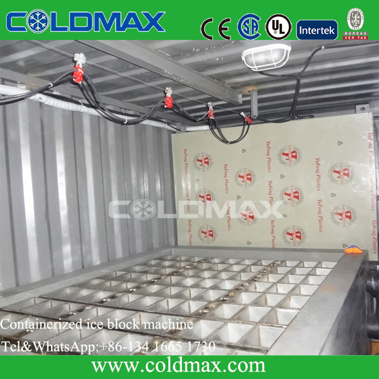 Containerized Block Ice Machine snow ice maker ice block making plant KMS-20T block plant