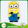 Wholesale yellow fashion cartoon universal size silicone phone case