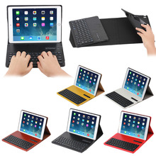 Soft Crazy horse leather case bluetooth keyboard for iPad Air