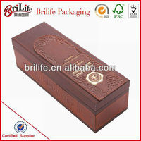 High Quality Leather Wine Packaging Box