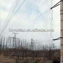 High strength plastic anti bird netting for catching bird