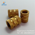 Alibaba china factory brass threaded round nuts