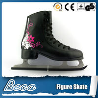 Good quality ice skate series that PVC leather Comfort and durability female figure ice skate wholesale