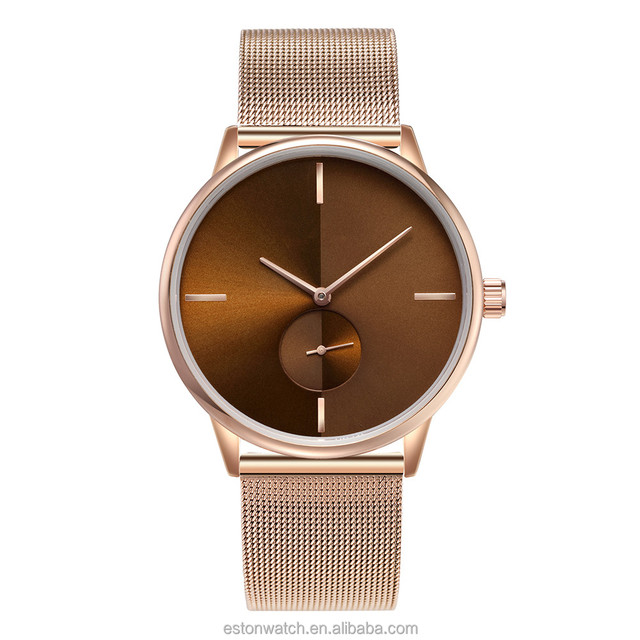 Fashion Style Rose Gold Plated Mens and Womens Wrist Watches