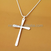 Fashion silver christian cross necklace NSNK-32855