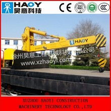 6.3 ton small track crane rail crane with hydraulic telescopic booms customized for sale