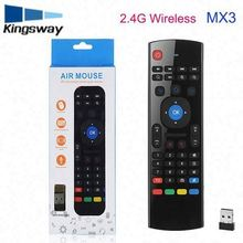 mx3 2.4g 3d air mouse MX3 Air Mouse russian wireless keyboard for android tv box