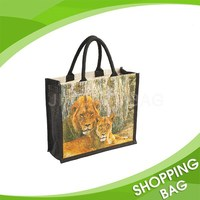 Customized Cheap printed Recycle Supplier Promotion Jute tote bag