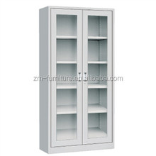 metal furniture 2 glass door steel cupboard