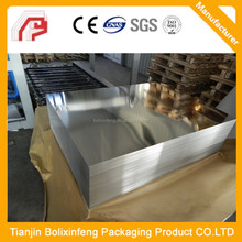0.18mm T2/T3 BA silver finish food grade silver finish lacquer and printing ETP tinplate