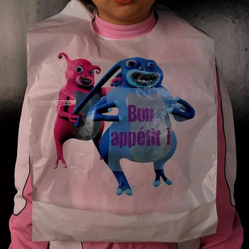 Disposable Animal Print Baby Bib for Restaurant