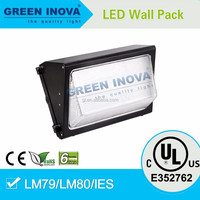 DLC UL cUL 6 years warranty outdoor lighting large LED wall pack