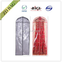 personalized transparent pvc dress cover bag